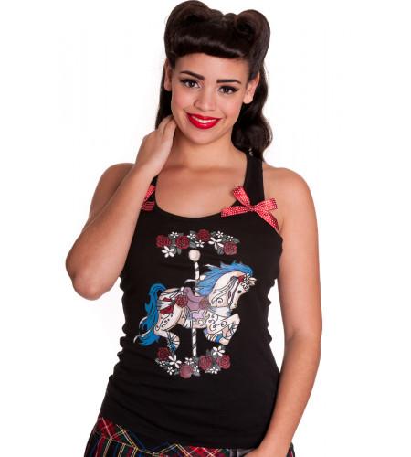 Tee shirt débardeur femme hell bunny carousel