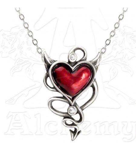 pendentif gothique coeur diablesse alchemy ul17