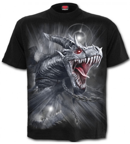 Boutique vente vêtements motif dragon gris créature heroic fantasy