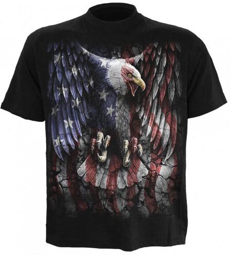 Liberty usa - T-shirt homme aigle rapace