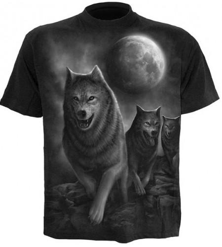 t-shirt de loup tee shirt animaux