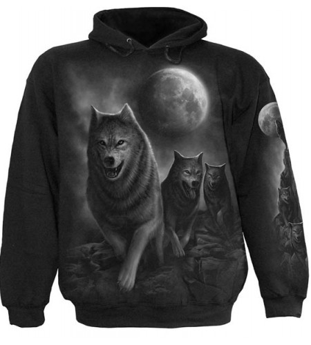 sweat shirt animaux loups