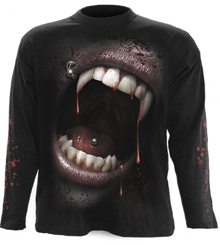 tee shirt homme vampire manches longues
