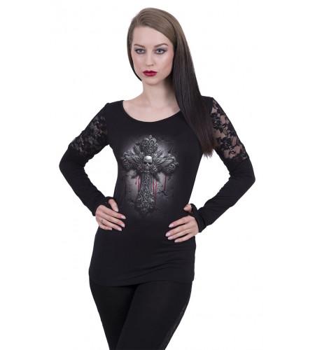 Crucifix - Tee-shirt femme gothique - Spiral