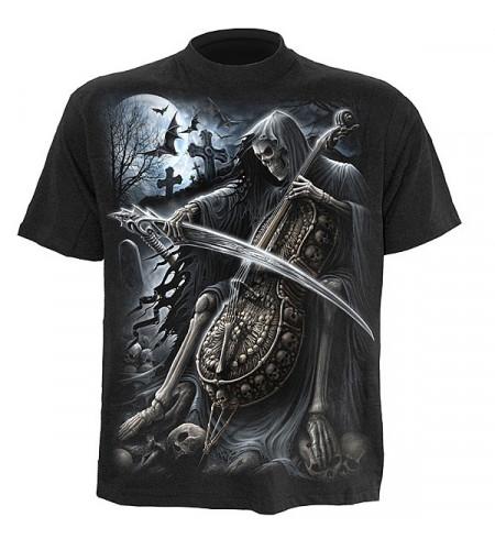 t-shirt squelette homme la mort