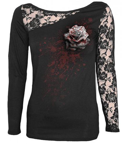White rose - Tee-shirt femme gothic - Spiral