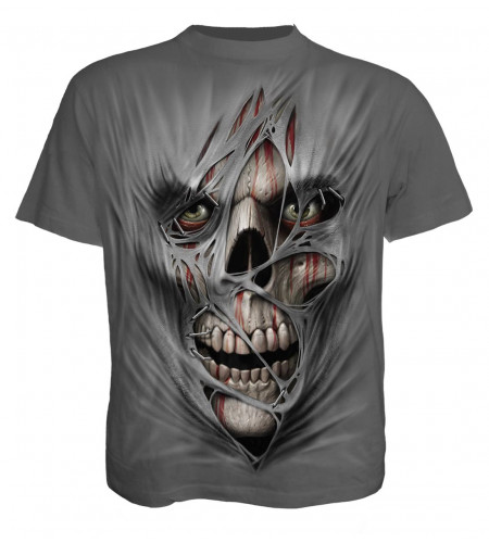 boutique t-shirt gotthic manches courtes homme stiched up spiral