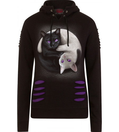 Yin Yang Cats - Sweat shirt chats - Spiral