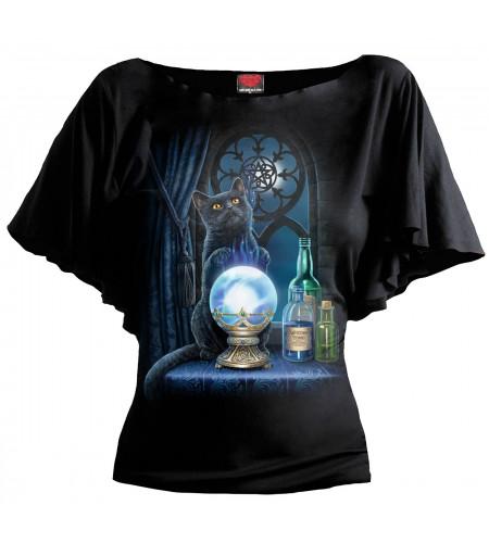 Boutique vente tee shirt femme motif chat lisa parker magie The witches apprentice