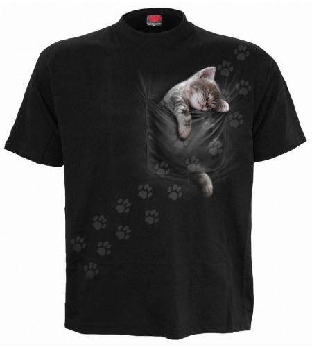 Pocket kitten - T-shirt motif chaton - Homme
