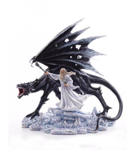 boutique ezn ligne vente statuette deco dragon mage heroic fantasy