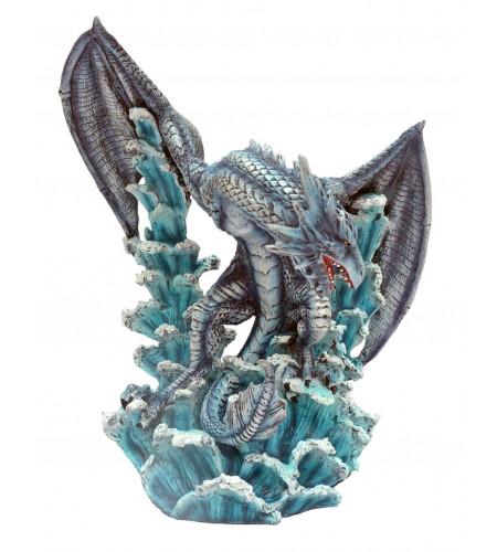 Dragon bleu des océans  - Figurine statuette (32x28cm*)