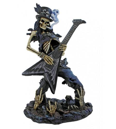 Boutique figurine rock squelette play dead artiste james ryman nemesis now