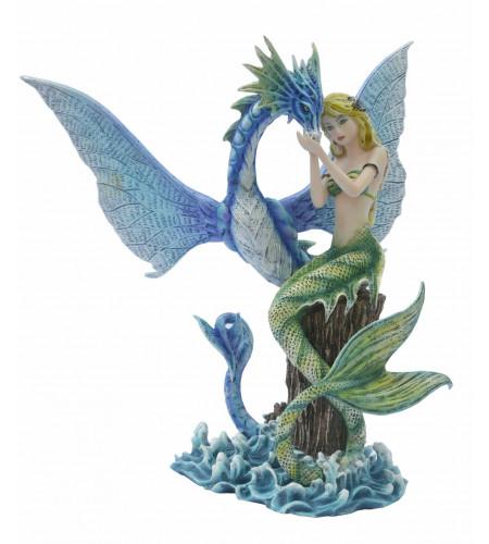 boutique féerique fantasy motif sirène et dragon collection décoration