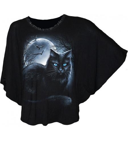 vetement femme chat noir