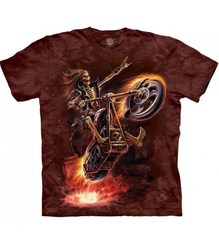 Hell rider - T-shirt dark biker squelette - The Mountain - Anne Stokes