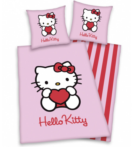 housse de couette hello kitty pour lit enfant. Black Bedroom Furniture Sets. Home Design Ideas