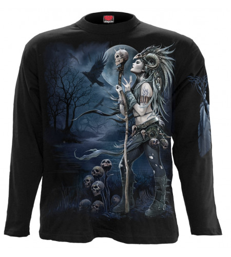 Raven queen - T-shirt dark gothic - Homme - Manches longues