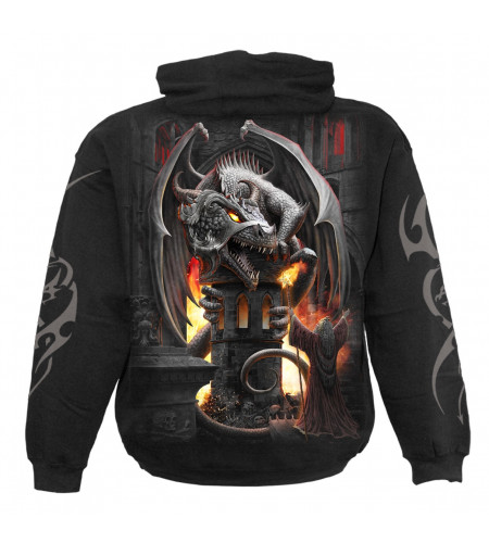 Boutique vente vetements motif heroic fantasy dragons keeper fortress spiral
