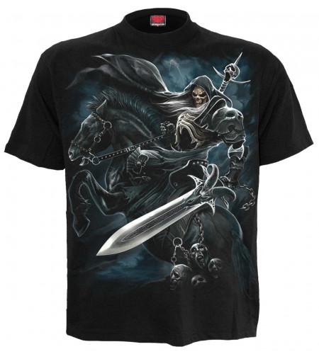 achat tee shirt grim rider motif squelette cavalier cheval