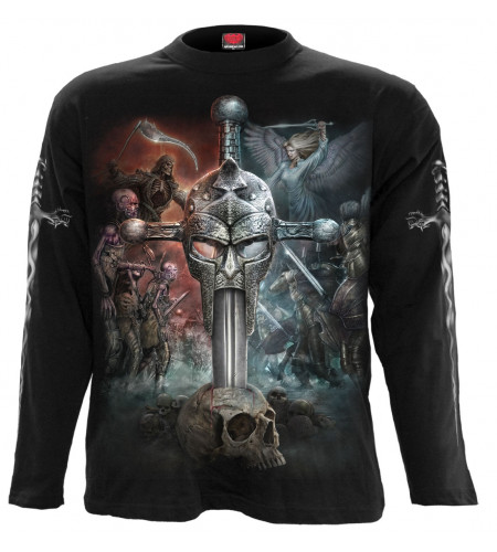 boutique vente tshirt manches longues mofif dark fantasy combat entre le bien et le mal