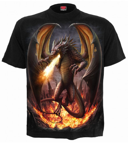 Draco unleashed - T-shirt dragon - Spiral - Manches courtes