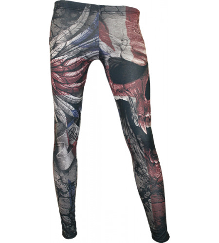 leggings femme dark gothique spiral