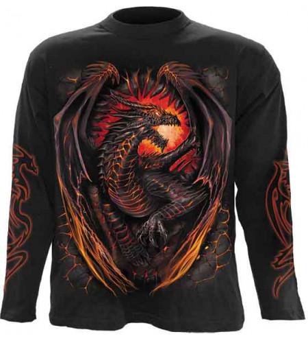 tee shirts dragon manches longues spiral