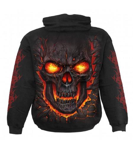 Skull lava - Sweat shirt enfant - Crane flamme - Spiral