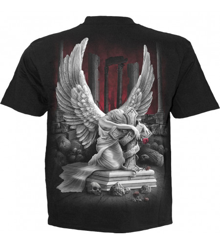 boutique tee shiirt ange gothic pour homme spiral
