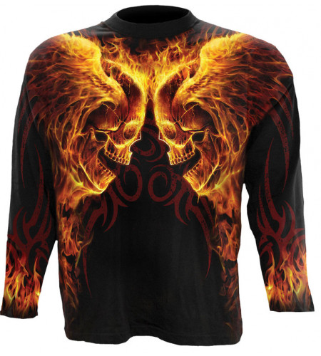 Burn in hell - Tee-shirt homme - Crâne flammes