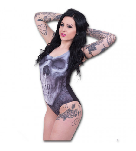 Magasin maillot de bain pour femme crane dark fantasy gothic