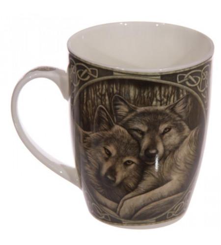 boutqiue déco cente mugs motif animal loups dessin lisa parker