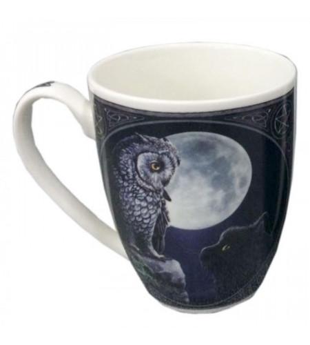 Hibou et chat noir - Mug - Lisa Parker - Déco