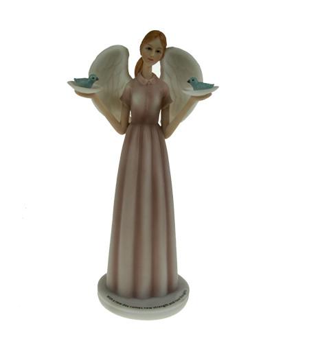 figurine ange et oiseaux