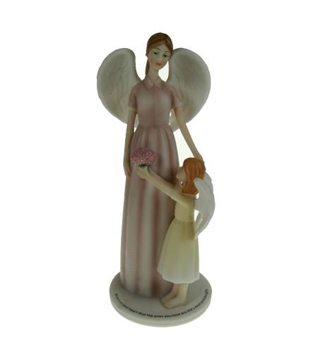 statuette ange déco mère et fille