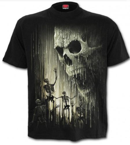 Waxed skull - T-shirt homme crâne squelettes