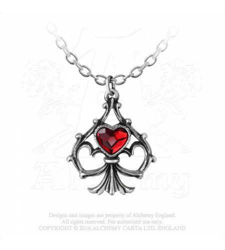 Lucky In Love - Pendentif coeur - Alchemy Gothic