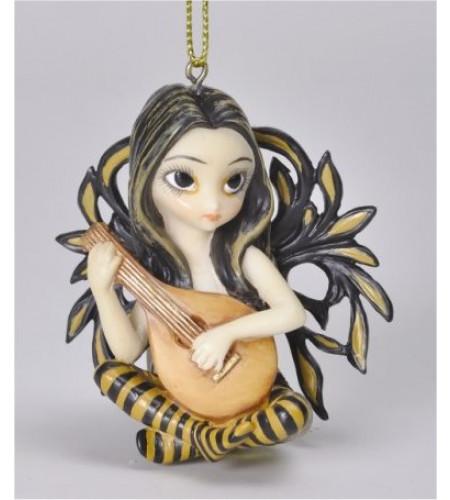Figurine de fée jouant de la lute