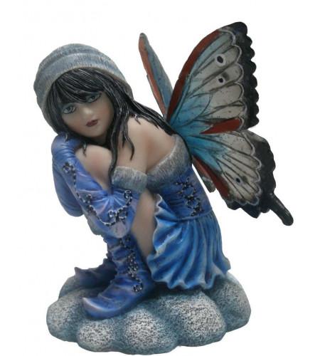 boutique féerique vente petite figurine elfe bleue petit peuple