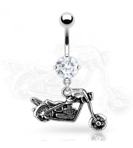 Piercing nombril - Bijou - Moto biker