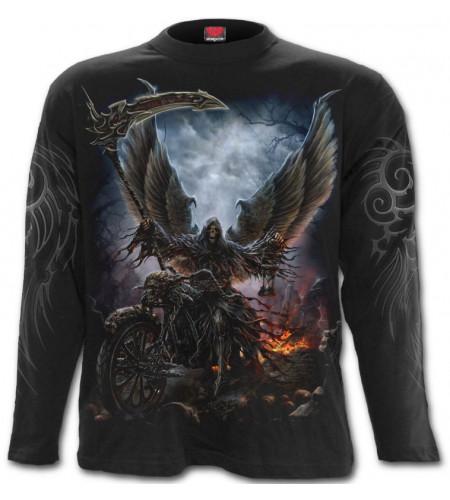 Boutique motif dark fanatsy reaper tee shirt homme manches longues
