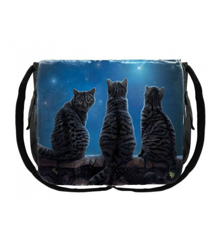 boutique lisa parker france vente sacs besace motif chats noirs Wish upon a star