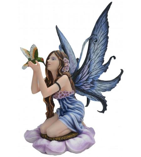 boutique vente statuette décoration fée et oiseau