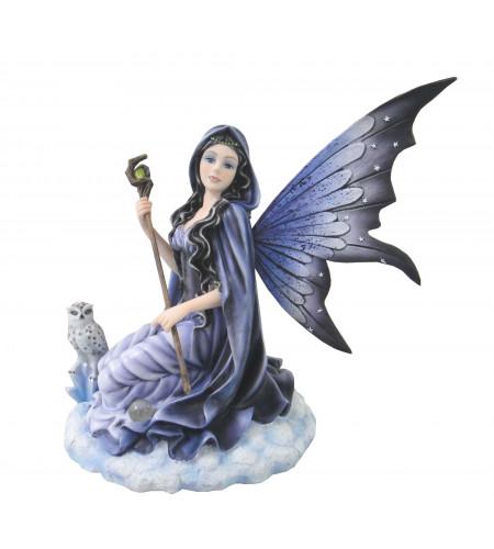 Fée magicienne avec hibou - Figurine (28x26cm*)