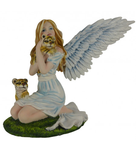 Boutique angélique vente figurines motif ange et tigre