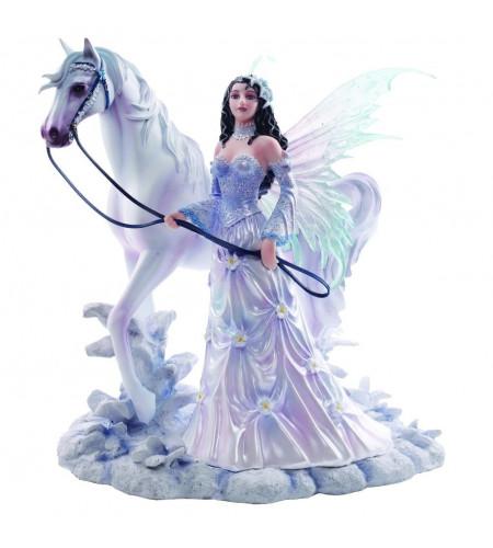 boutique féerique vente statuette nene thomas fée cheval winter wings