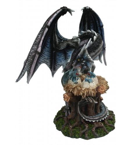 Boutique vente figurine dragon en résine grand format statuette déco fantasy