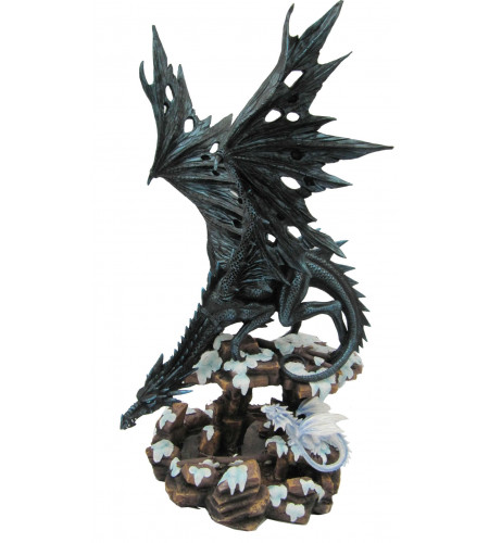 Boutique vente statuette dragon grand format mère et son petit DA010E