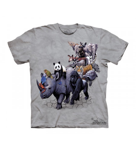 t-shirt animaux enfant the mountain